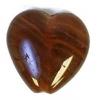 Glass Pressed Beads 10x10mm Heart Dark Brown